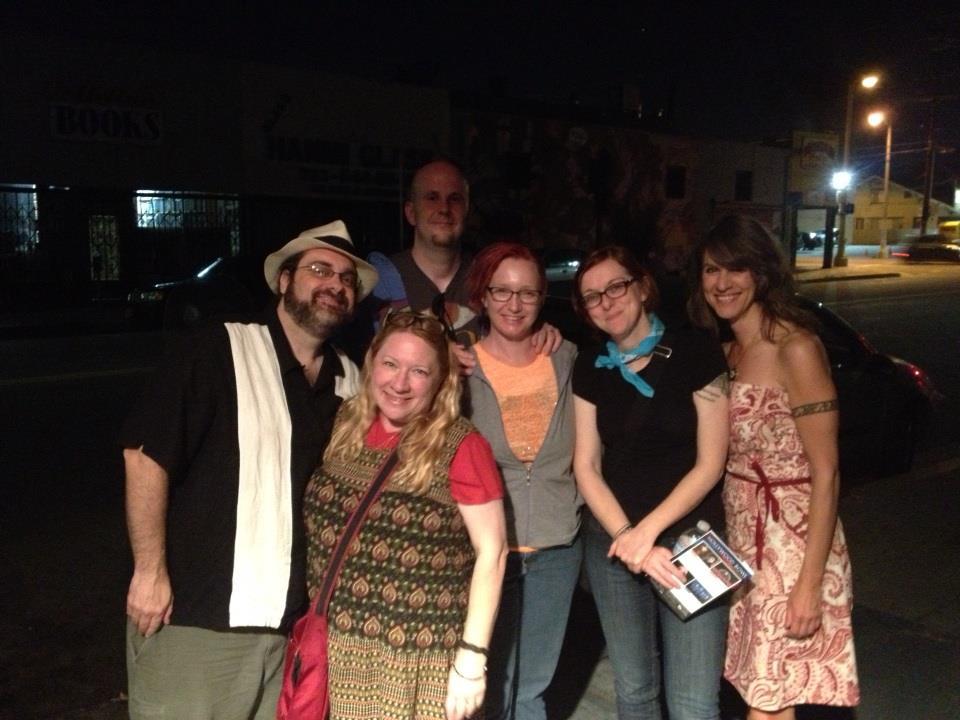 Andy Romaine, Carol Penn-Romaine, Christie Yant, Tracie Welser, me, and John Joseph Adams (aka The Shadow). Pic taken by John Remy